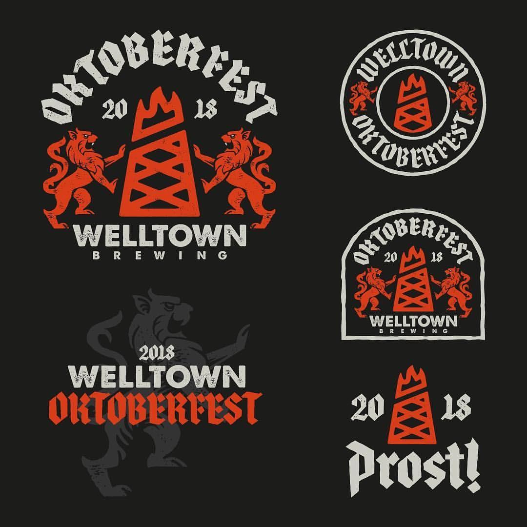Some Exploration And The Final Badge Lock Up For Welltownbrewing Oktoberfest Got To Get A Taste Of Their Oktoberfest Fun At Work Seal Design Oktoberfest Beer
