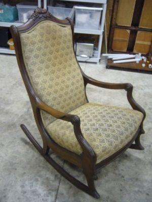 Antique Chair Styles Guide | Antique Victorian Rocking chair NICE!! Completed & Antique Chair Styles Guide | Antique Victorian Rocking chair NICE ...