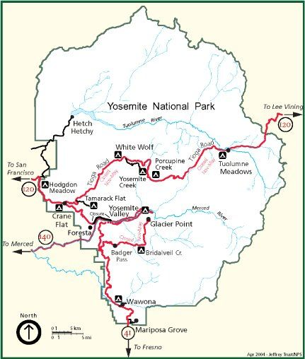 Yosemite! We hiked to Vernal Falls, we saw the giant redwoods, and on map of map, map of grand canyon, map of myrtle beach,