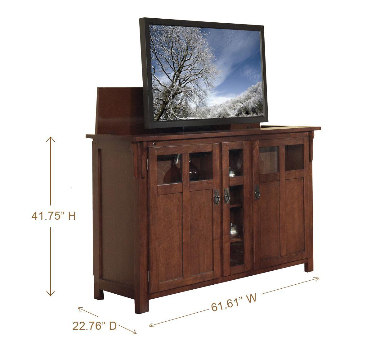 Bungalow Mission Oak Tv Lift Cabinet Www Touchstonehomeproduts Com Tv Lift Cabinet