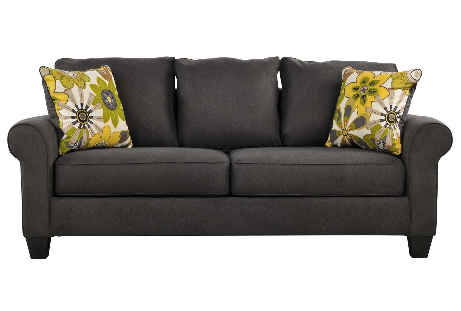 Nolana Charcoal Sofa Living Room With Charcoal Sofa Luxury