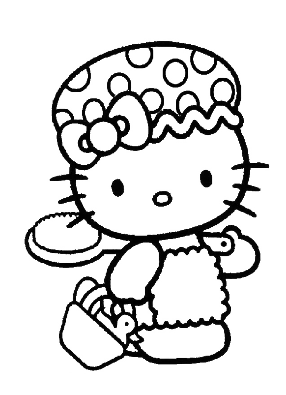 Hello Kitty Was Carrying A Toothbrush Coloring Page Hello Kitty Coloring Pages Kidsdrawing Hello Kitty Coloring Hello Kitty Colouring Pages Kitty Coloring