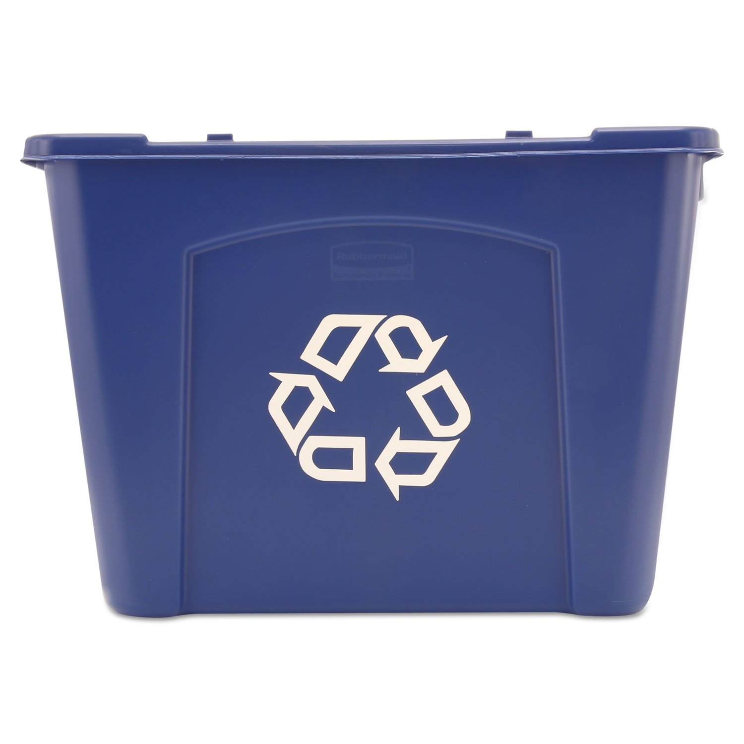 36 Qt Large Open Wastebasket Cool Stacking Recycle Bin Rectangular Polyethylene 14Gal Blue  Products Decorating Design