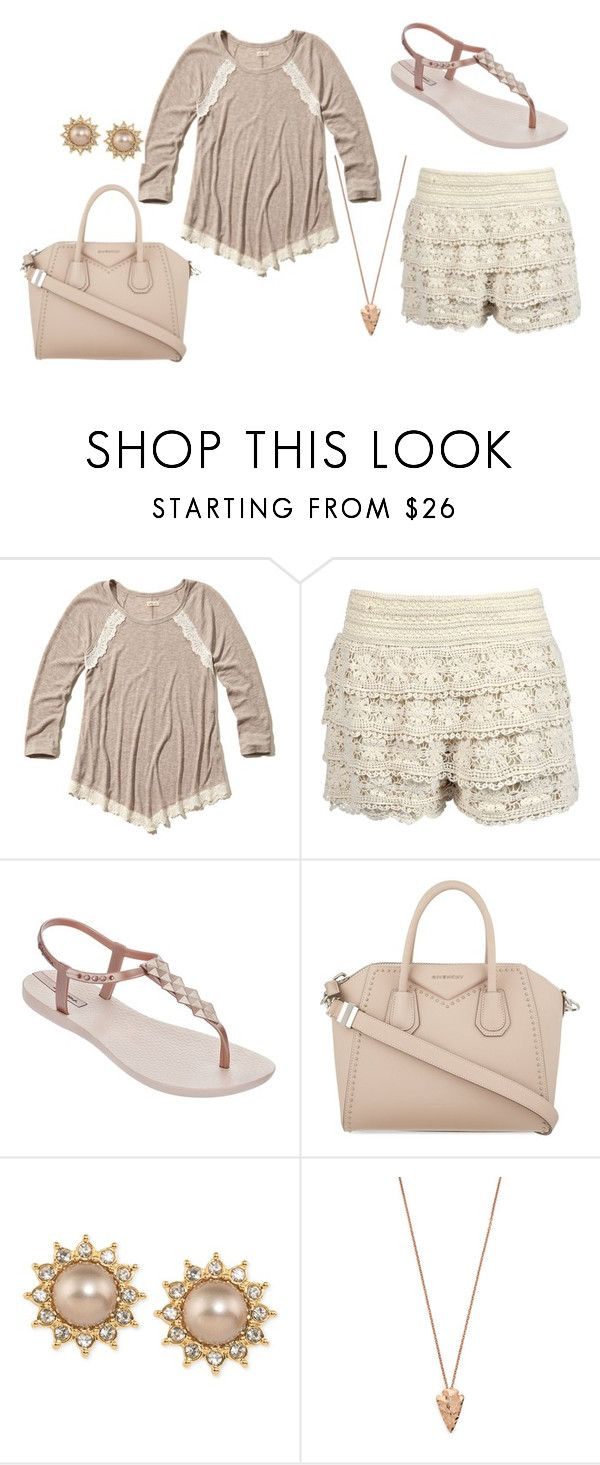 """good  morning :)"" by i-dont-want-to-go ❤ liked on Polyvore featuring Hollister Co., Boohoo, IPANEMA, Givenchy, Carolee and Pamela Love"