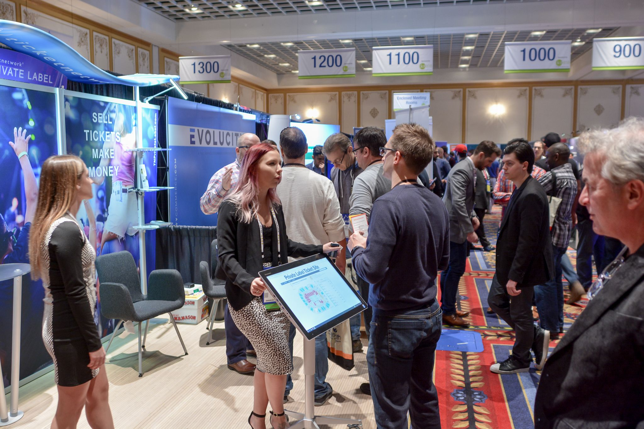 Exhibit Hall At Affiliate Summit West 2017 Which Took Place