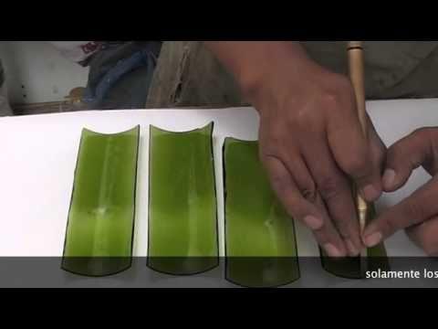 corte de botella de vidrio en tiras  YouTube  CRISTAL