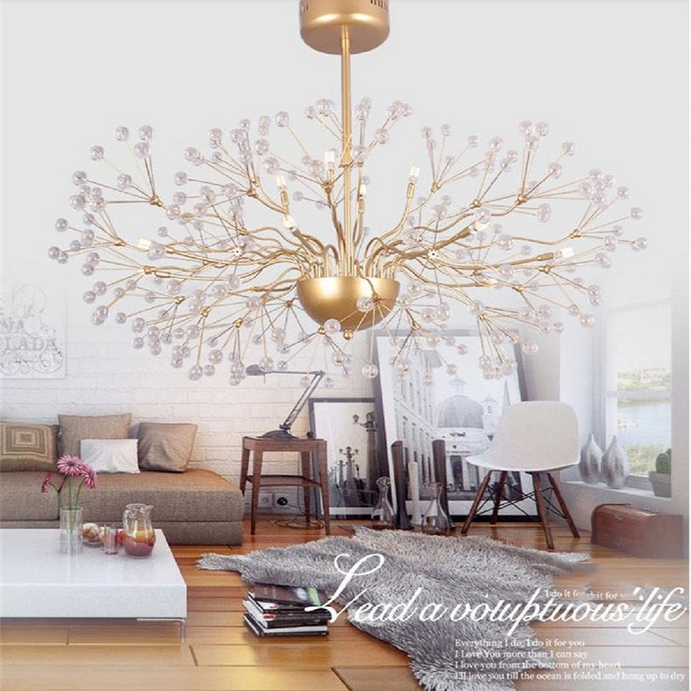 323.00$  Watch now - http://aliv7p.worldwells.pw/go.php?t=32711981171 - 110V 220V Modern Golden  Glass LED Chandelier Light Fixture Lustre Hotel Project restaurant industrial hanging lamp fixture
