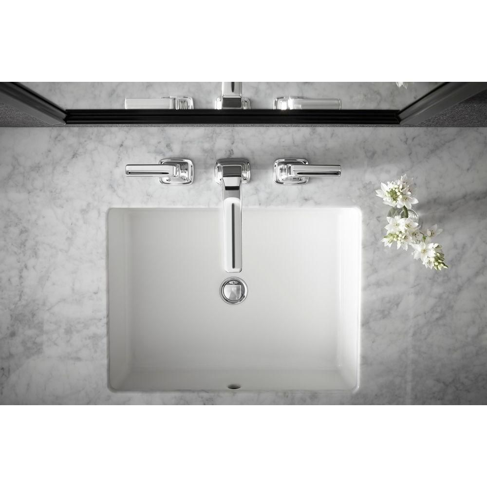 Kohler Verticyl Vitreous China Undermount Bathroom Sink In White With Overflow Drain K 2882 0
