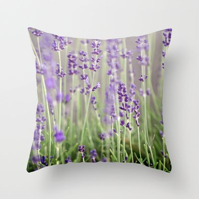 Lavender Throw Pillow by A Wandering Soul - $20.00
