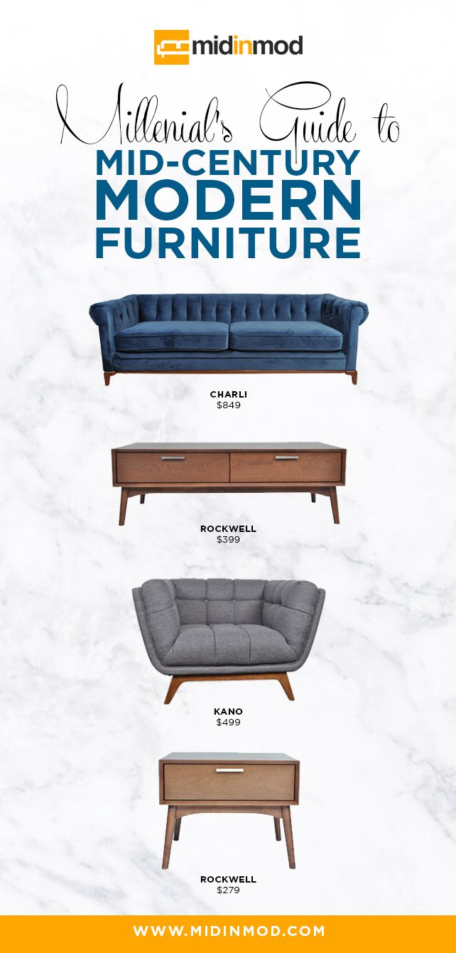Modern Furniture Guide millennials' guide to mid-century modern furniture | mid century