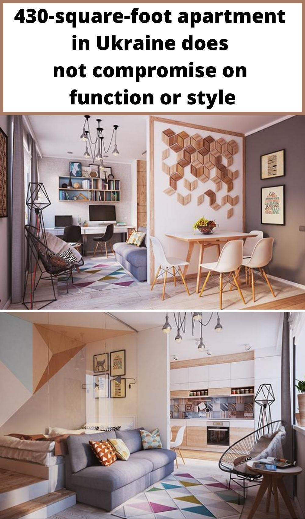 430 Square Foot Apartment In Ukraine Does Not Compromise On Function Or Style In 2020 Small Apartment Interior Interior Design Apartment Small Small Apartment Design