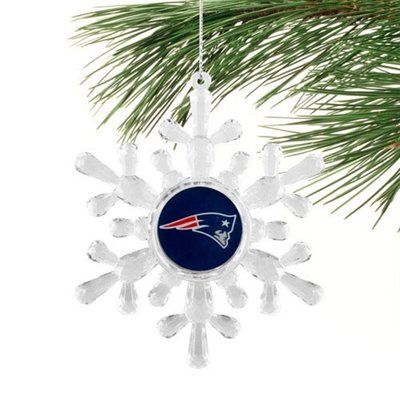 New England Patriots Snowflake Ornament