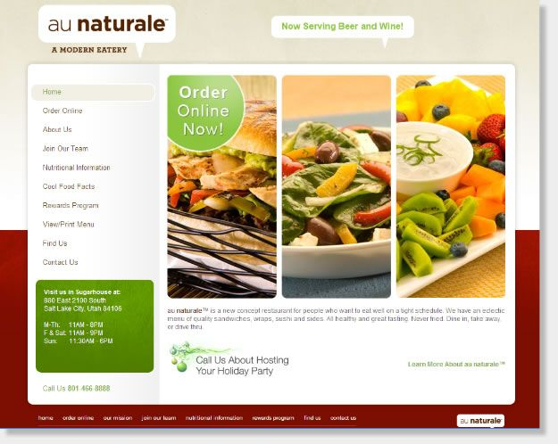 we focus in creating custom website designs for the restaurant and food services industries