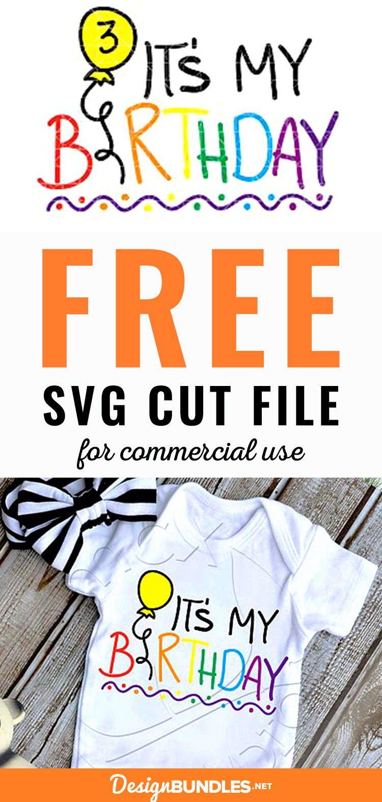 Free Kids Birthday SVG Cut File