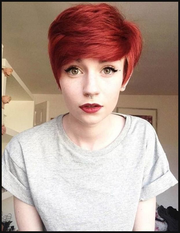 Kurze Rote Haare Frisuren Pinterest Kurze Rote Haare