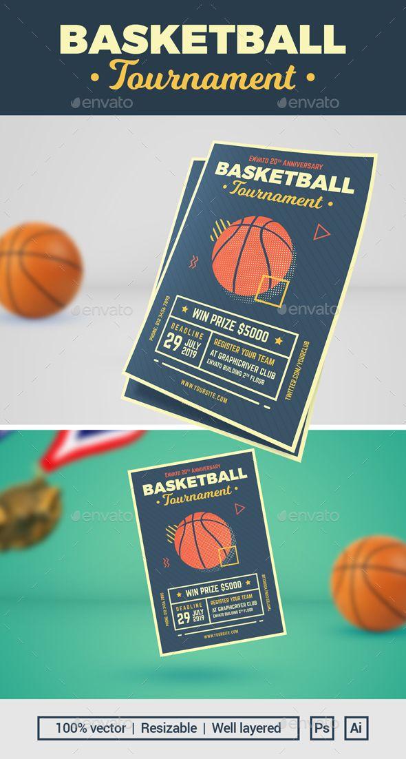 Basketball Tournament Flyer By Mahameru Illustrated Basketball