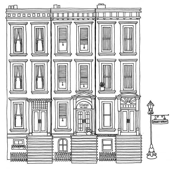 coloring pages brownstone - photo#2