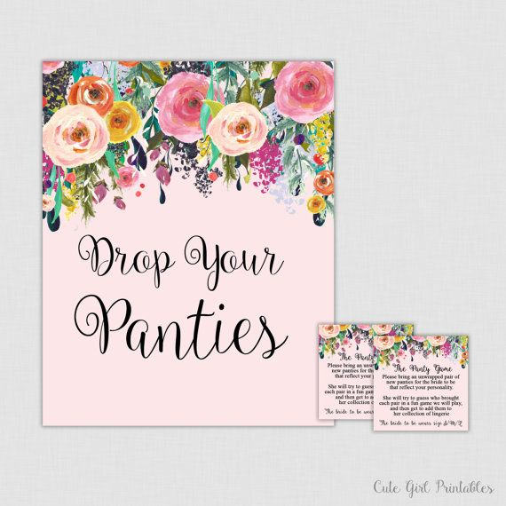 panty game floral drop your panties floral panties game lingerie bridal shower panty game cards bachelorette party game 0001p