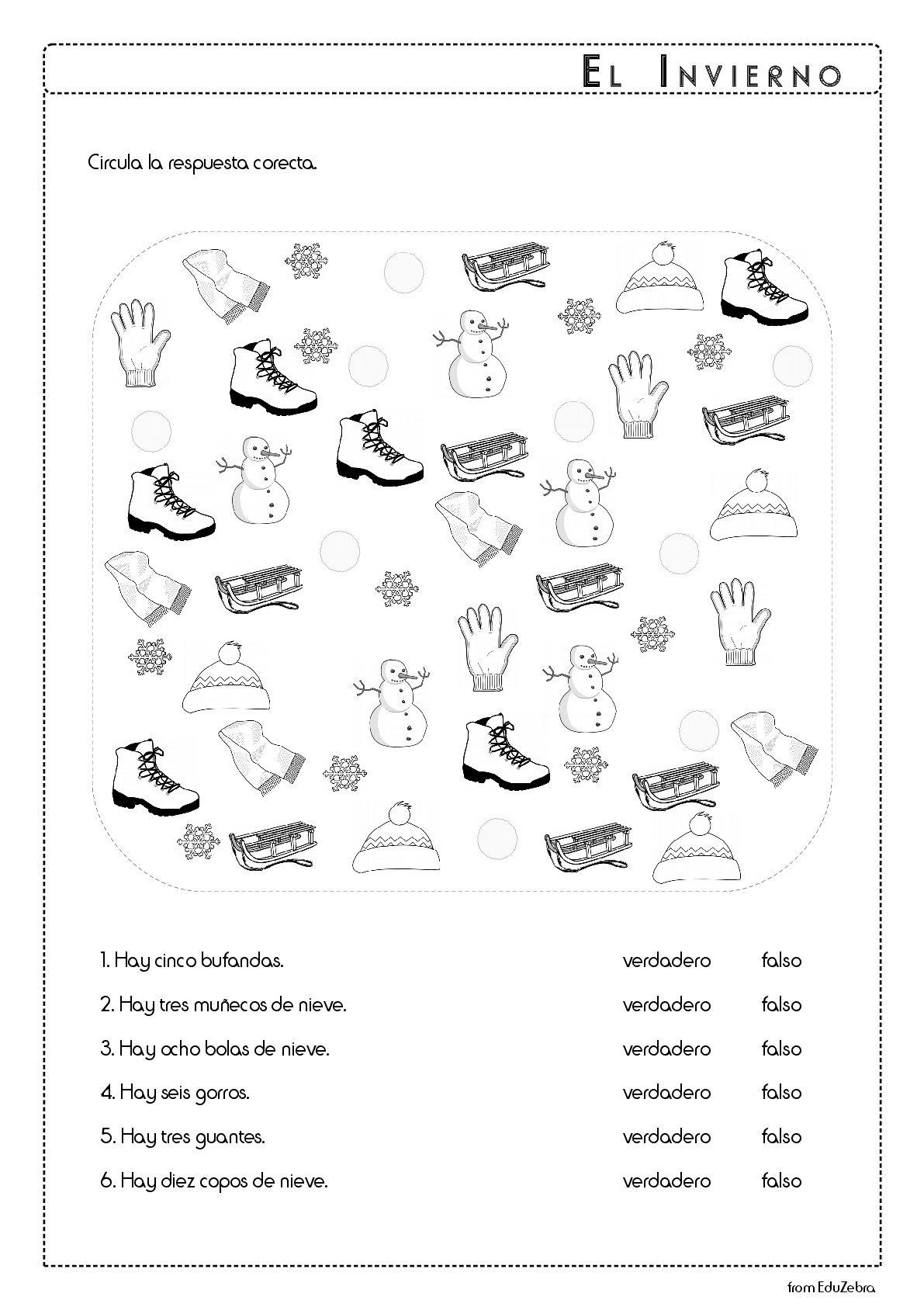 Winter Spanish Vocabulary