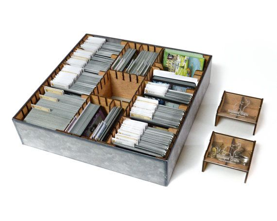 Organizer For Dominion Board Game Dominion Insert For Sleeved And Unsleeved Cards Board Game Organizer Board Game Insert Wooden Board Game Organization Game Organization Organization