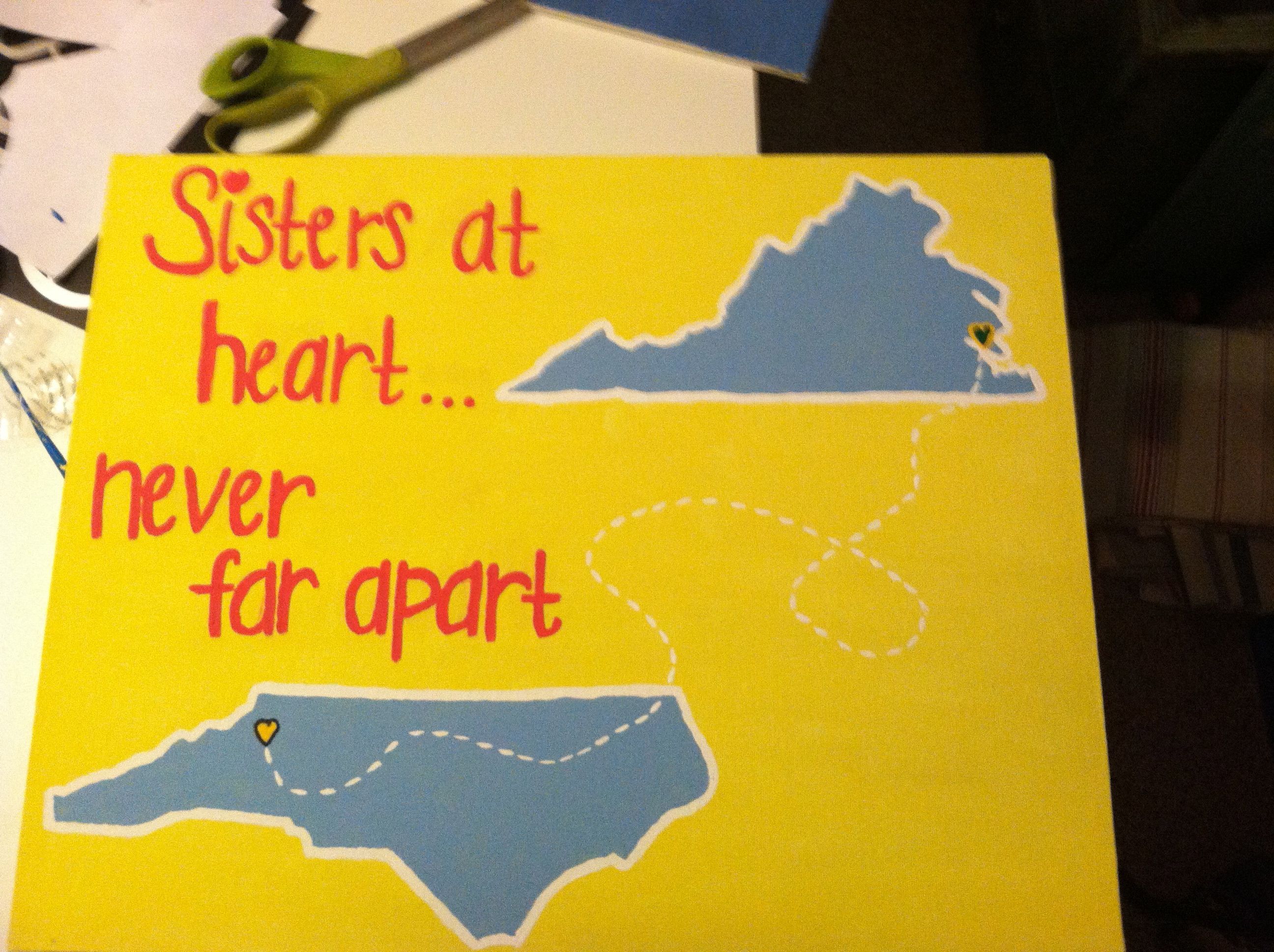 my talented daughter gave this her 2 bffs when they went different directions for college.