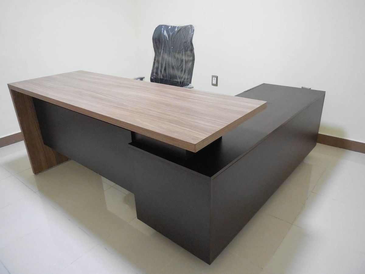 Escritorio moderno minimalista modelo id l024 d for Muebles para oficina usados