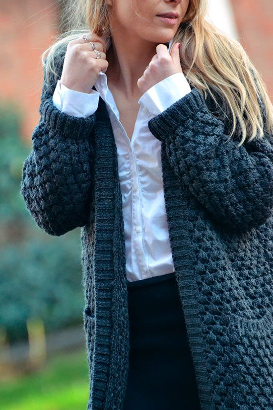 le gilet grosse maille an 39 ge blog mode maman lille gilet pinterest gilet grosse maille. Black Bedroom Furniture Sets. Home Design Ideas