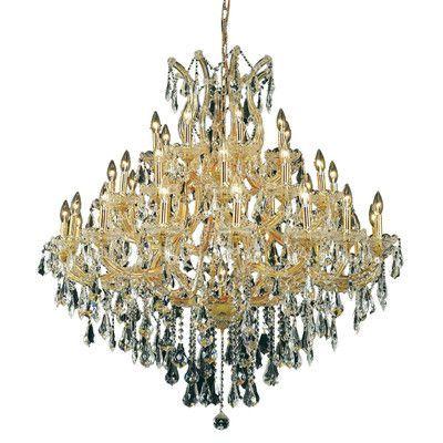 Elegant lighting maria theresa 37 light crystal chandelier finish elegant lighting maria theresa 37 light crystal chandelier finish crystal color crystal trim aloadofball Images