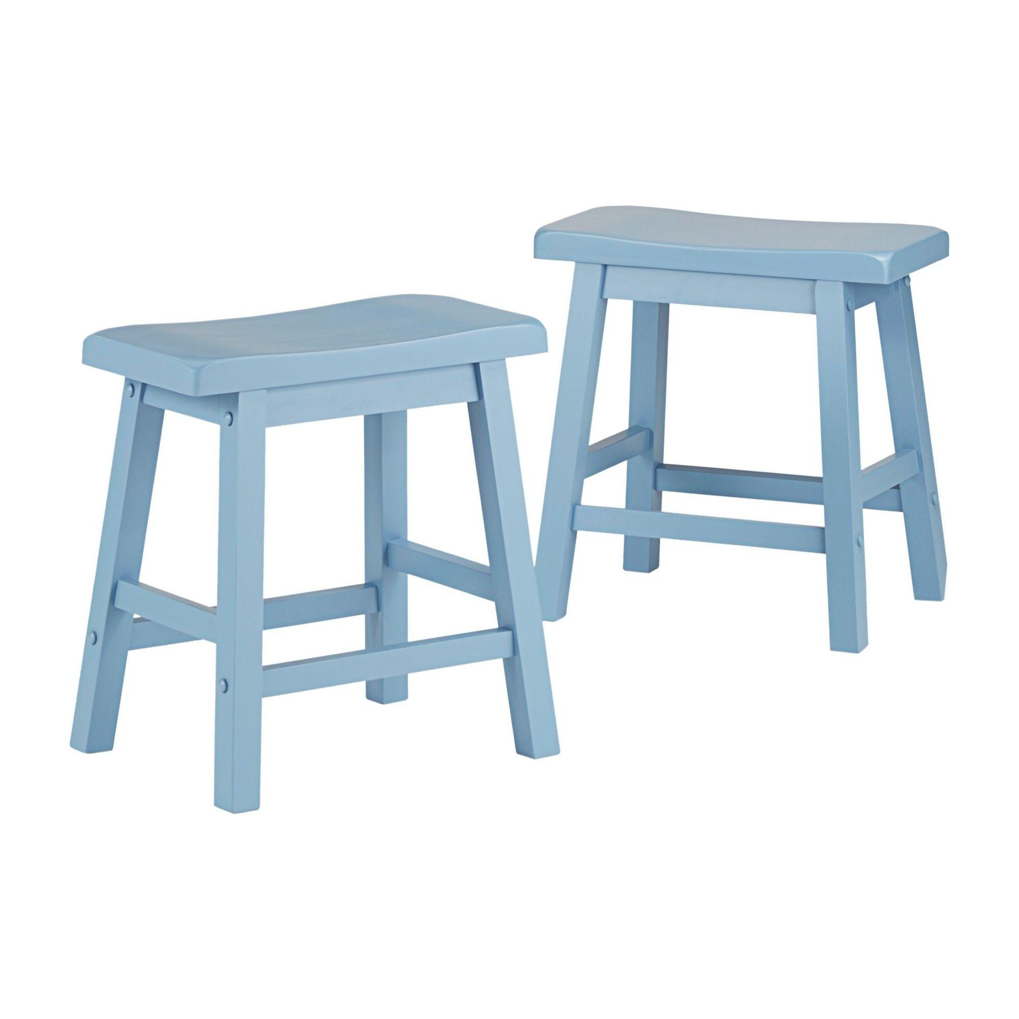 Fantastic Vinton 18 Saddle Stool Set Of 2 Blue Inspire Q Pdpeps Interior Chair Design Pdpepsorg