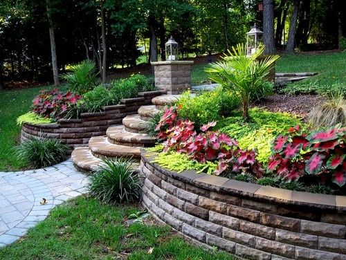 Useful and Great Landscape Design for Sloped Backyard ... on Retaining Wall Ideas For Sloped Backyard id=69698
