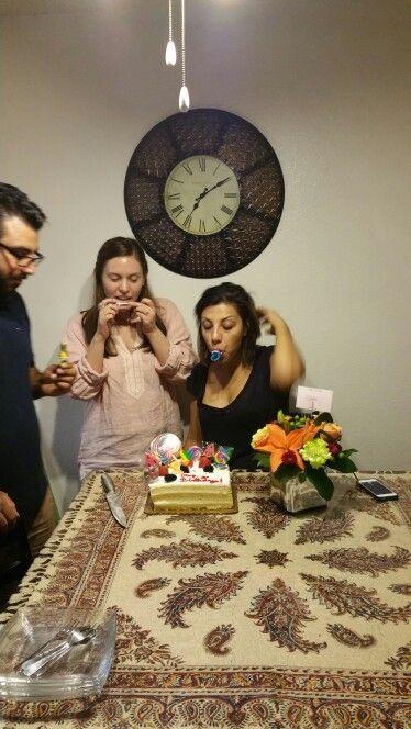 Saba' birthday 2015  Saba, Vahid and Rachael
