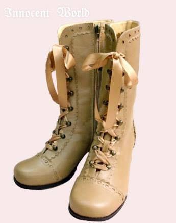 Innocent world: Heart and Diamond Ribbon Short Boots