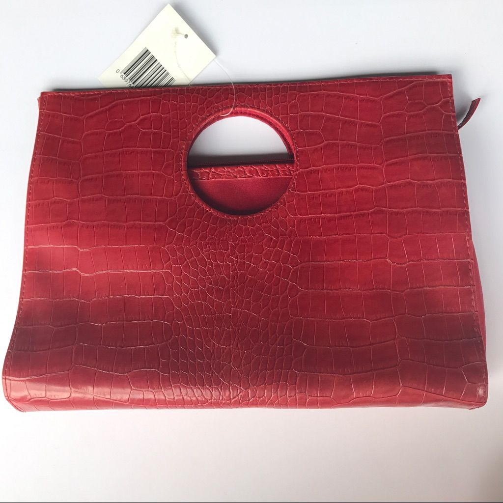 New! Red Clutch