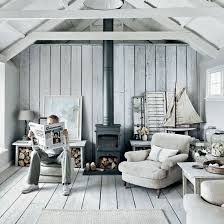 Rustic Beach House Interior White