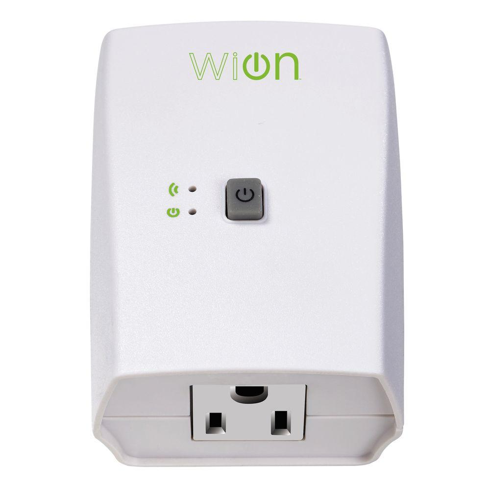 Woods 15 Amp Wion Indoor Plug In Wi Fi Wireless Switch Appliance Single Outlet Programmable Control Timer White Wifi Digital Timer