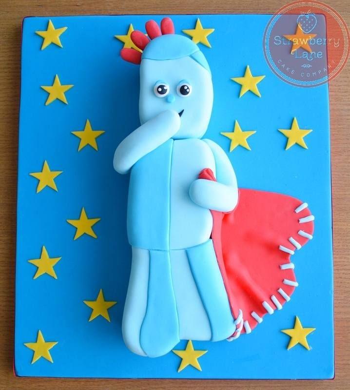 2d Iggle Piggle Carved Cake Tutorial Cake Tutorial Cake Templates Celebration Cakes
