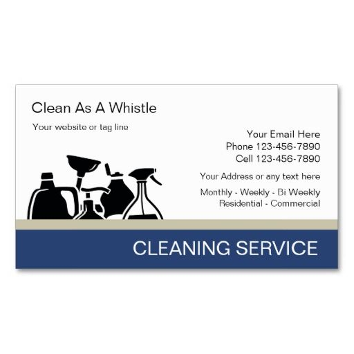 cleaning service business cards cleaning business cards