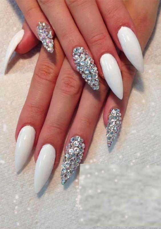 38 Cute & Fresh Almond Nail Art Designs for 2018 - 38 Cute & Fresh Almond Nail Art Designs For 2018 Manicure