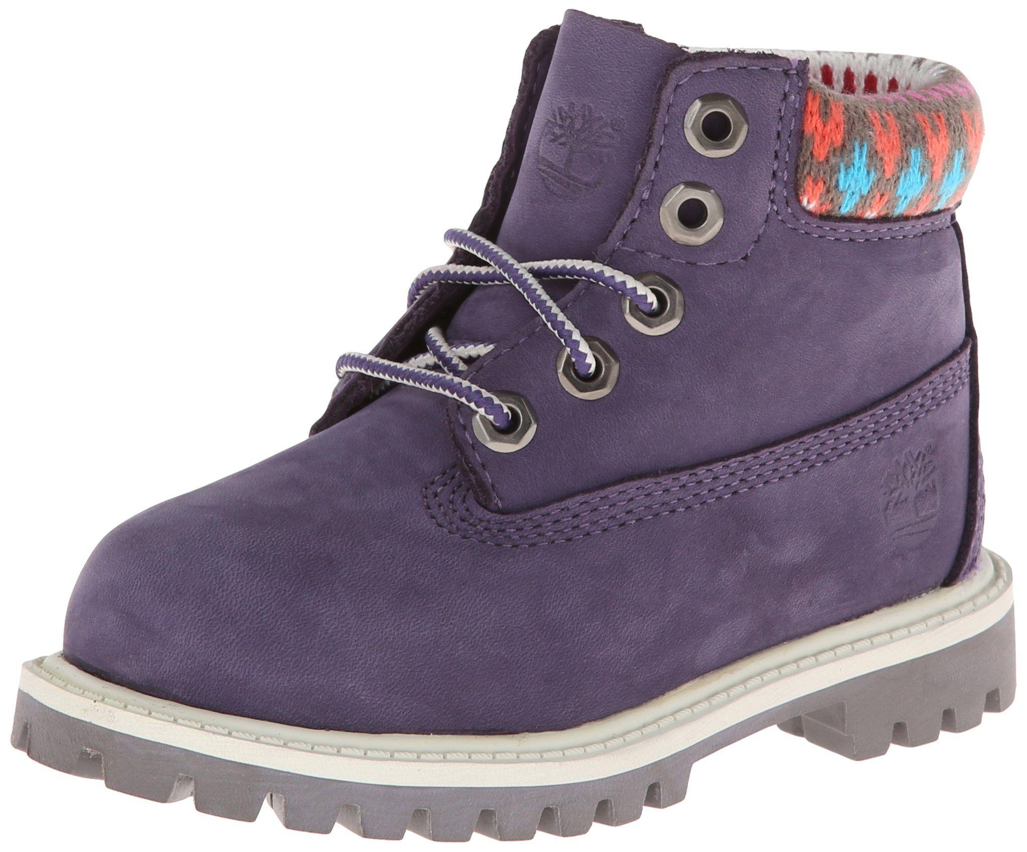 e776625b492c Timberland Kids Purple with Multi Sweater 6 Premium Waterproof Toddler 9.0  B(M) US Toddler