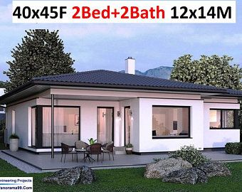 101 2 m2 or 1089 sq foot Australian 2 Bedroom house plan Small and Tiny House Plans metric Under 1200 sq foot house plans