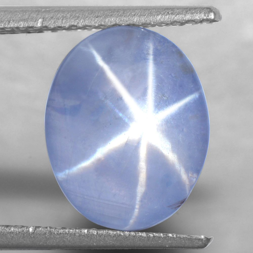 5.19 Cts Natural Lustrous Sharp 6 Rays Unheated Blue Star Sapphire Oval 11x9 mm