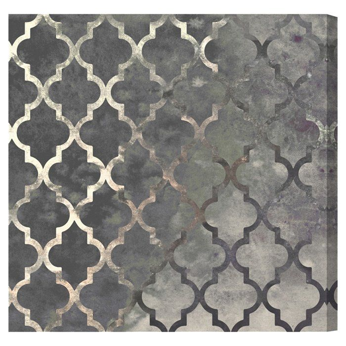 Oliver Gal Oliver Gal 'Arabesque Silver Abstract Art