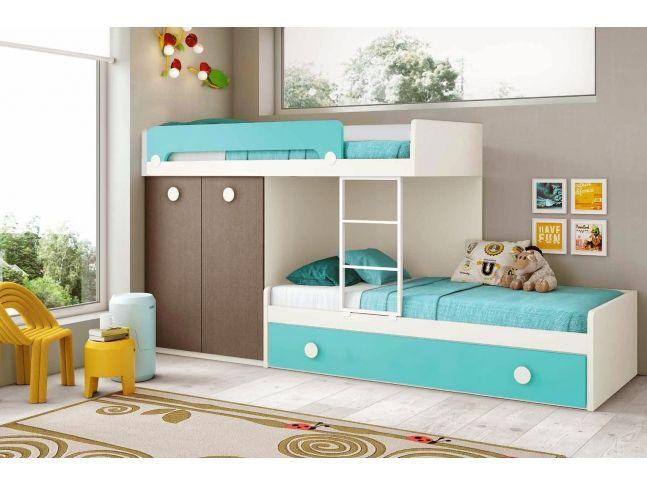 lit superpos enfant avec lit gigogne composition l203 1 glicerio chambre enfants. Black Bedroom Furniture Sets. Home Design Ideas