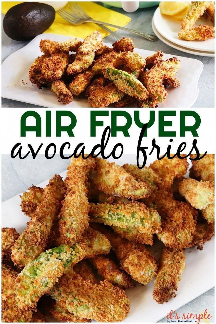 Air Fryer Avocado Fries Keto Fries, Low Carb & Gluten