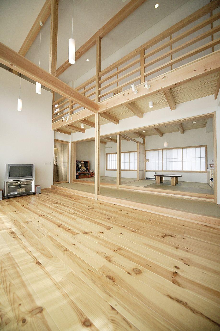 voor boven naturel grenen vloer interior