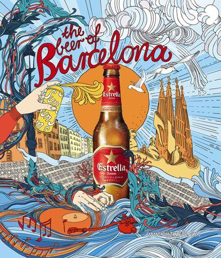 Estrella Damm Ad Beer Art Beer Poster Beer