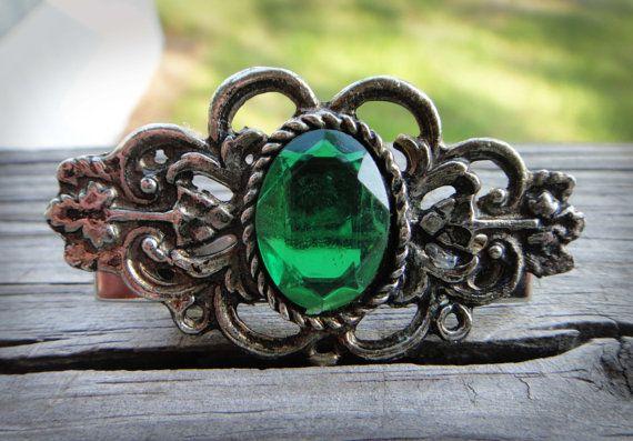 Emerald City Retro Hair Pin by RockabillyWhimsy on Etsy, $14.95