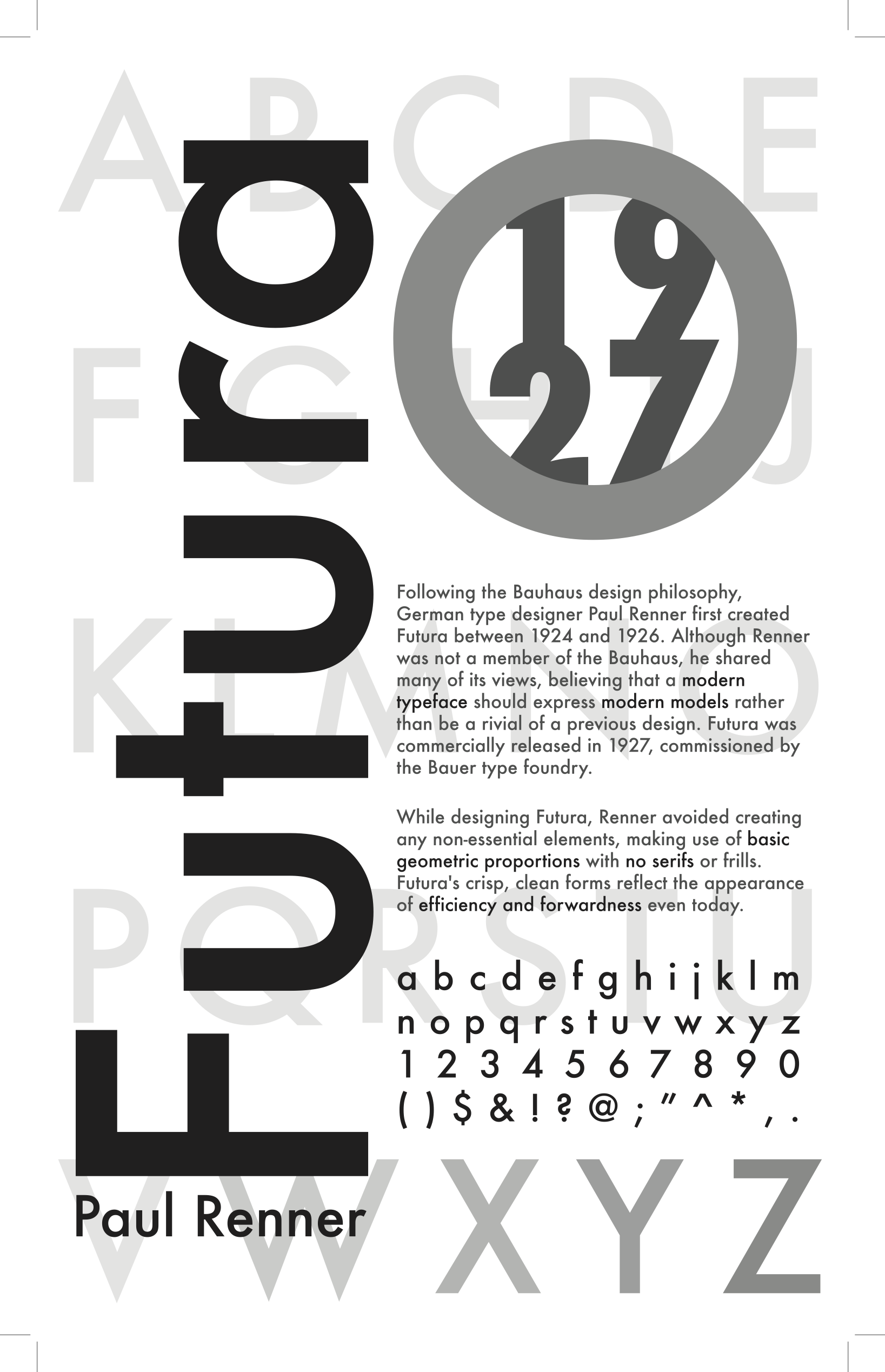 Typographic Hierarchy Futura Typographic Hierarchy Typeface Poster Typographic Poster