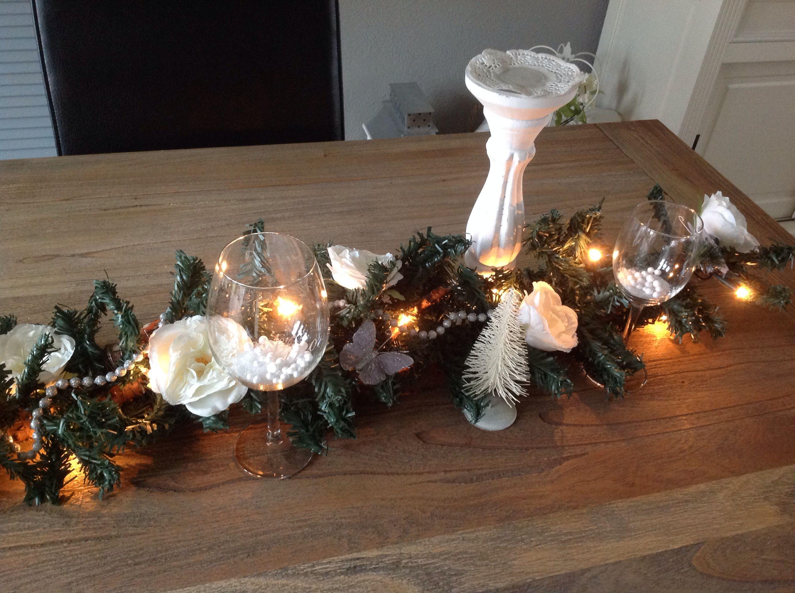 Gemaakt Voor Mariska Kerststuk Op De Achtertafel Decoratie Kerst Decoraties