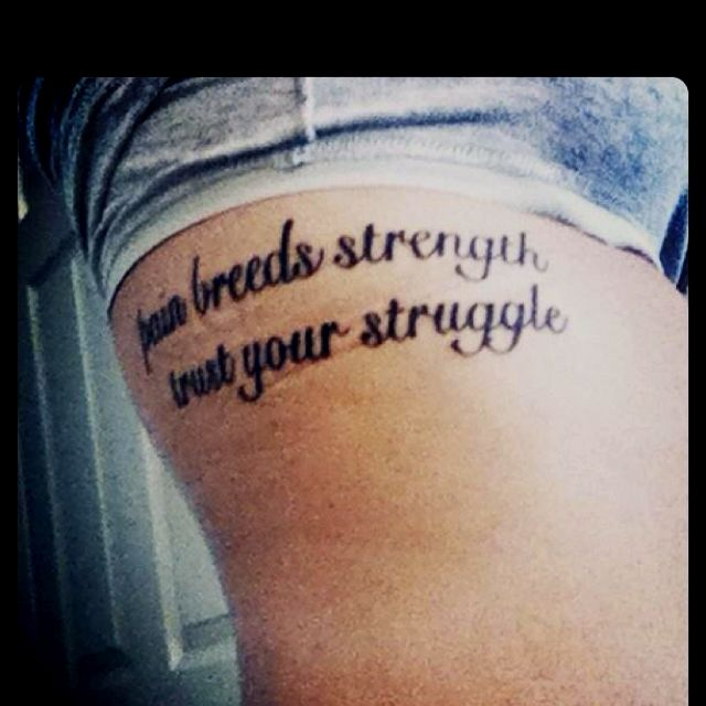 Quotes about struggle and pain quotesgram for With pain comes strength tattoo